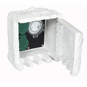 Garden socket box with timer