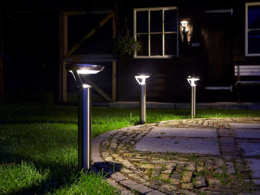 Solar 1x perpignan sokkel rvs 25 lumen luxform lighting for Solar lampen